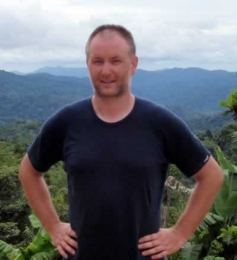 Justin Kibell at Ioribaiwa Ridge Village in PNG